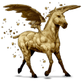 winged unicorn pony  earth element